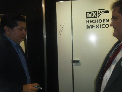 Lic. Carlos David Ibarra Felix (Alcalde de Sinaloa) y el Ing. Bernardo Bulnes García