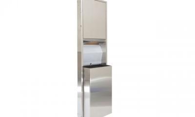 Dispensador de toalla de papel Interdoblada con basurero