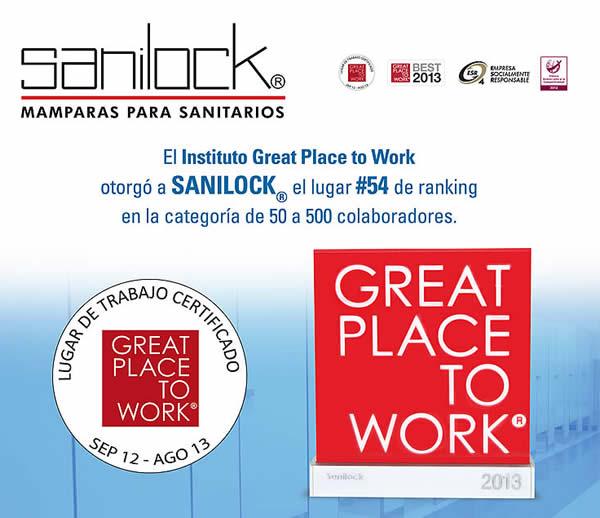 Mamparas Para Baño Sanilock: de la categoría de 50 a 500 colaboradores a SANILOCK como un gran